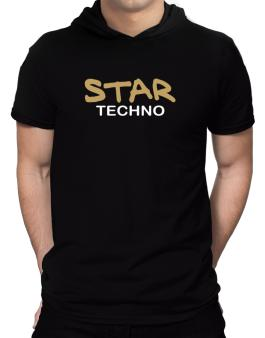Star Techno Hooded T-Shirt - Mens