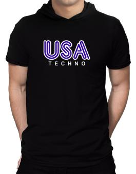 Usa Techno Hooded T-Shirt - Mens