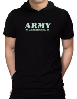 Army Abecedarian Hooded T-Shirt - Mens