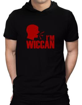 Im Wiccan - Face Hooded T-Shirt - Mens