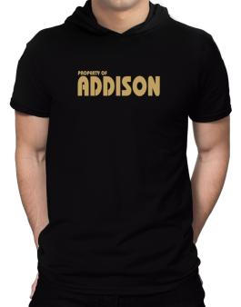 Property Of Addison Hooded T-Shirt - Mens