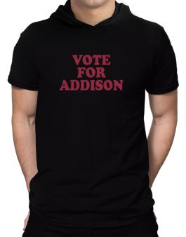 Vote For Addison Hooded T-Shirt - Mens
