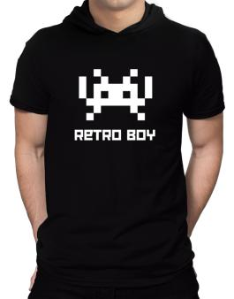 Retro Boy Hooded T-Shirt - Mens