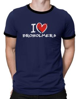 I love Broholmers chalk style Ringer T-Shirt