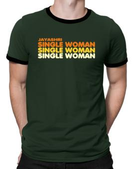 Jayashri Single Woman Ringer T-Shirt