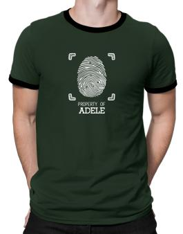Property of Adele fingerprint 2 Ringer T-Shirt
