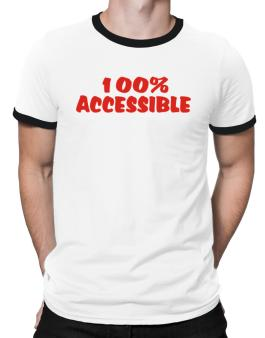 100% Accessible Ringer T-Shirt