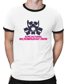 Agricultural Microbiologist Zone - Gas Mask Ringer T-Shirt