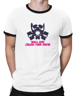 Wall And Ceiling Fixer Zone - Gas Mask Ringer T-Shirt