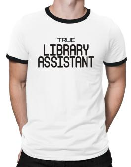 True Library Assistant Ringer T-Shirt