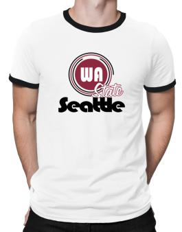 Seattle - State Ringer T-Shirt