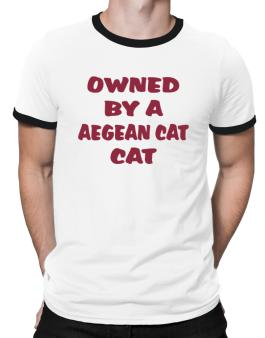 Owned By S Aegean Cat Ringer T-Shirt