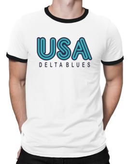 Usa Delta Blues Ringer T-Shirt