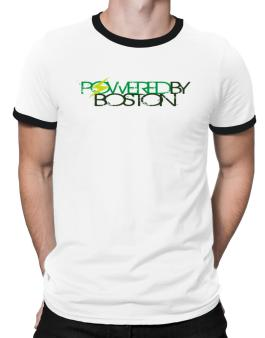 Powered By Boston Ringer T-Shirt