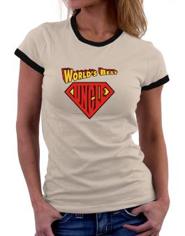 Worlds Best Uncle Women Ringer T-Shirt