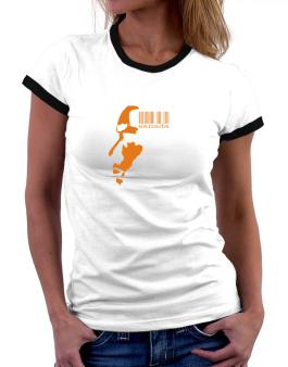 Canada - Barcode With Face Women Ringer T-Shirt