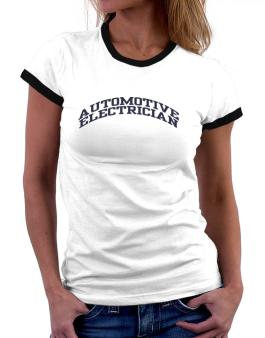Automotive Electrician Women Ringer T-Shirt