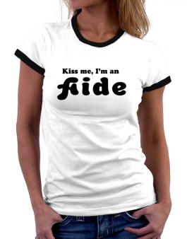 Kiss Me, I Am An Aide Women Ringer T-Shirt