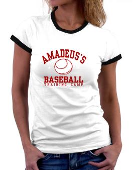 Amadeuss Baseball Training Camp Women Ringer T-Shirt