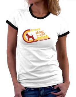 Irish Terrier : Every Dog Breed Must Have Its Day! Women Ringer T-Shirt