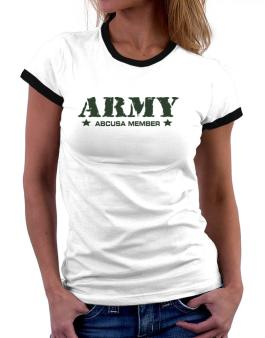 Army Abcusa Member Women Ringer T-Shirt