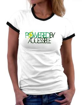 Powered By Accessible Women Ringer T-Shirt