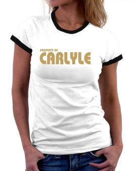 Property Of Carlyle Women Ringer T-Shirt