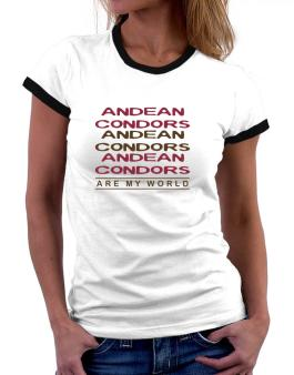 Andean Condor Are My World - Triple Women Ringer T-Shirt