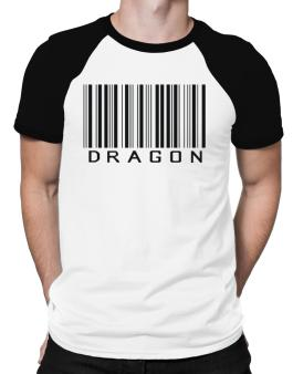 Dragon Barcode / Bar Code Raglan T-Shirt