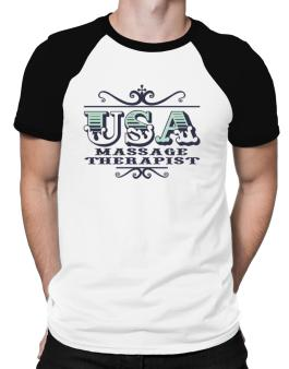 Usa Massage Therapist Raglan T-Shirt