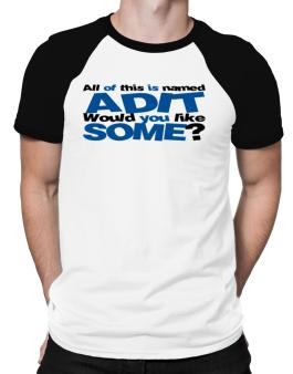 All Of This Is Named Adit Would You Like Some? Raglan T-Shirt