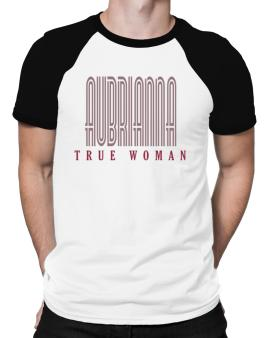 Aubrianna True Woman Raglan T-Shirt