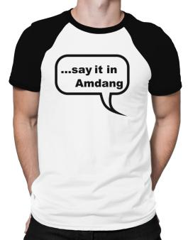 Say It In Amdang Raglan T-Shirt