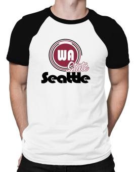 Seattle - State Raglan T-Shirt