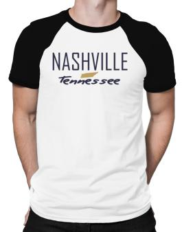 """ Nashville - State Map "" Raglan T-Shirt"