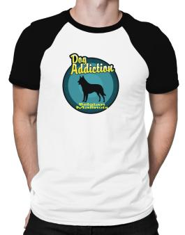 Polo Raglan de Dog Addiction : Belgian Malinois