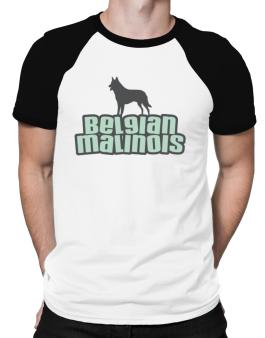 Breed Color Belgian Malinois Raglan T-Shirt
