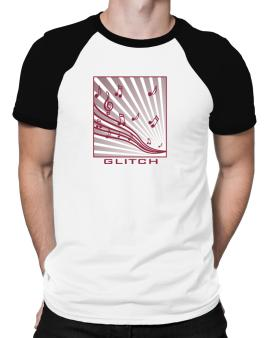 Glitch - Musical Notes Raglan T-Shirt