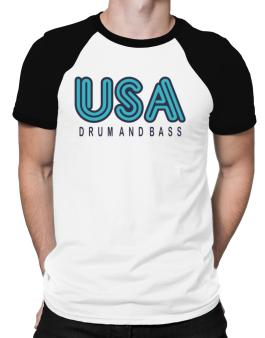 Usa Drum And Bass Raglan T-Shirt