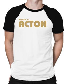 Property Of Acton Raglan T-Shirt
