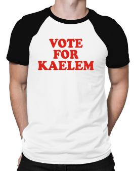 Vote For Kaelem Raglan T-Shirt