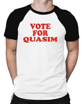 Vote For Quasim Raglan T-Shirt