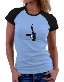 Gun Holster Women Raglan T-Shirt