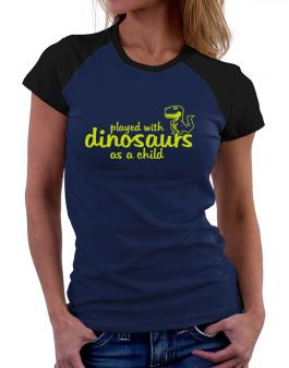 Polo Raglan de Played with dinosaurs as a child