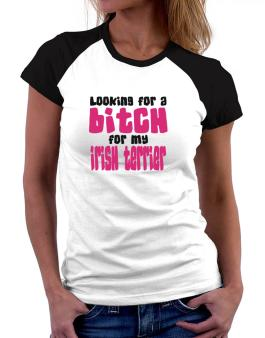 Looking For A Bitch For My Irish Terrier Women Raglan T-Shirt