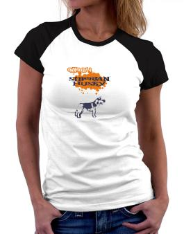 Owned By A Siberian Husky Women Raglan T-Shirt