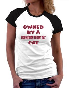 Owned By S Norwegian Forest Cat Women Raglan T-Shirt