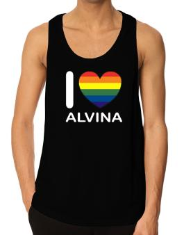 I Love Alvina - Rainbow Heart Tank Top