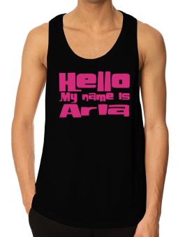 Hello My Name Is Aria Tank Top