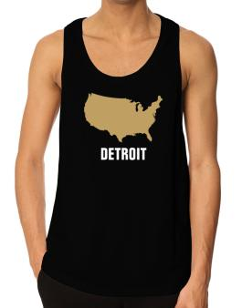 Detroit - Usa Map Tank Top